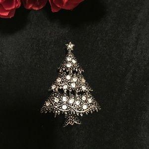 Vintage Anne Klein Christmas Tree Brooch